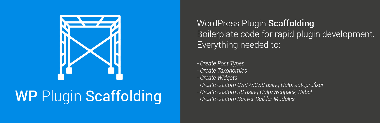 WP Plugin Scaffolding
